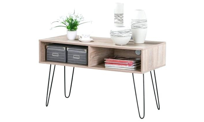 Widely Used Metal And Wood Tv Stand Hairpin Legs Entertainment Center Console In Hairpin Leg Tv Stands (View 16 of 20)