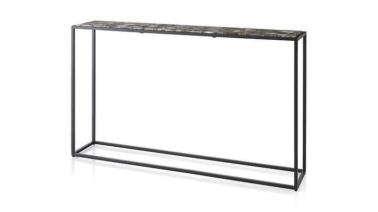 Widely Used Mix Agate Metal Frame Console Tables Pertaining To Mix Agate Black Metal Frame Console Table (View 20 of 20)