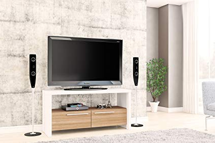 Widely Used Modern Style Tv Stands Within Amazon: Boahaus Modern Style Tv Stand Up To 46'' 2 Closed (View 15 of 20)