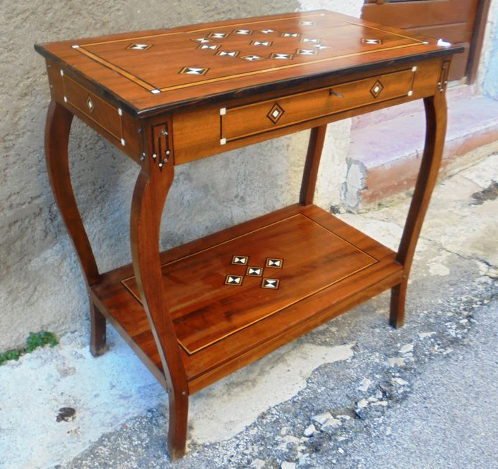 Widely Used Orange Inlay Console Tables For African Ebony And Ivory Inlaid Console Table On Curved Legs – Catawiki (View 14 of 20)