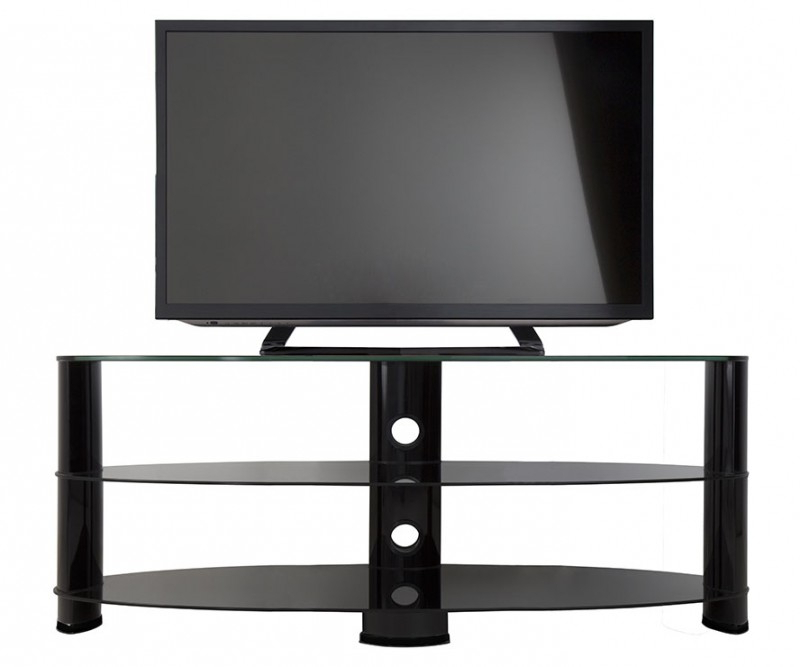 Widely Used Oval Glass Tv Stands For Ovl1400Bb: Reflections – Oval Glass Tv Stand – Tv Stands (View 20 of 20)