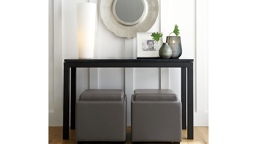 Widely Used Parsons White Marble Top & Dark Steel Base 48X16 Console Tables Inside Parsons Black Marble Top/ Dark Steel Base 48X16 Console (View 19 of 20)