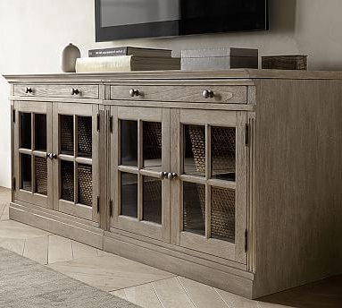 Widely Used Preston 66 Inch Tv Stands With Livingston Small Tv Stand With Glass Doors (Gallery 19 of 20)