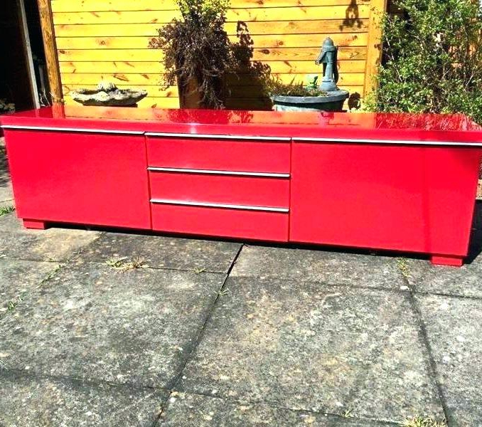 Widely Used Red Gloss Tv Stands Stand Unit In Red High Gloss Ikea Red Gloss Tv Intended For Red Gloss Tv Cabinets (Gallery 12 of 20)