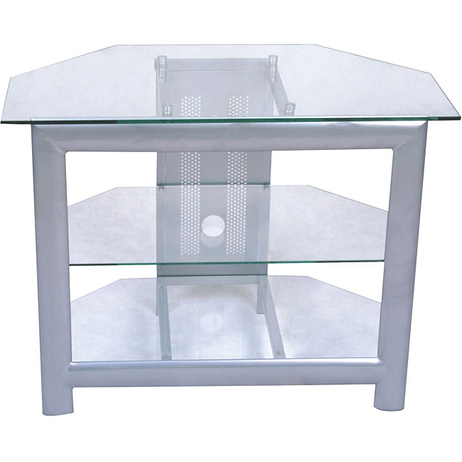 Widely Used Shop Silver Corner Tv Stand – Free Shipping Today – Overstock With Regard To Silver Corner Tv Stands (View 20 of 20)