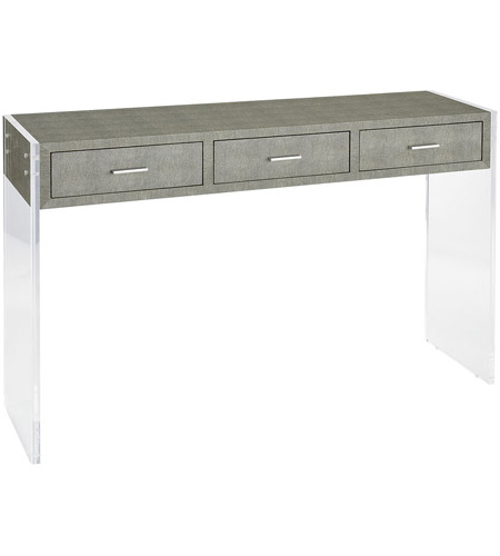 Widely Used Sterling 3169 066 Monaco Ville 48 X 12 Inch Grey Faux Shagreen And Regarding Faux Shagreen Console Tables (View 7 of 20)