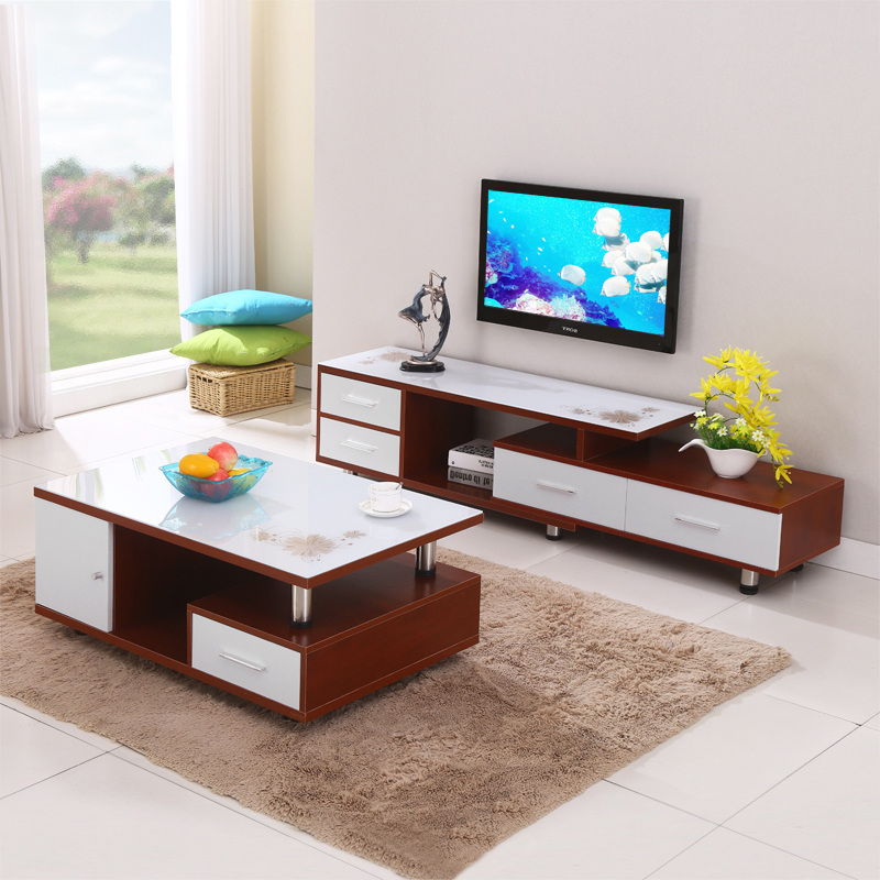 Widely Used Tv Cabinets And Coffee Table Sets For Buy Hyun Wood Modern Minimalist Living Room Tv Cabinet Glass Tv (View 19 of 20)