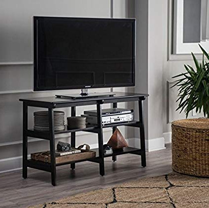 Widely Used Tv Stands For Large Tvs Throughout Amazon: Premium Furniture Usa Tv Stand For Flat Screen Large Tvs (View 20 of 20)