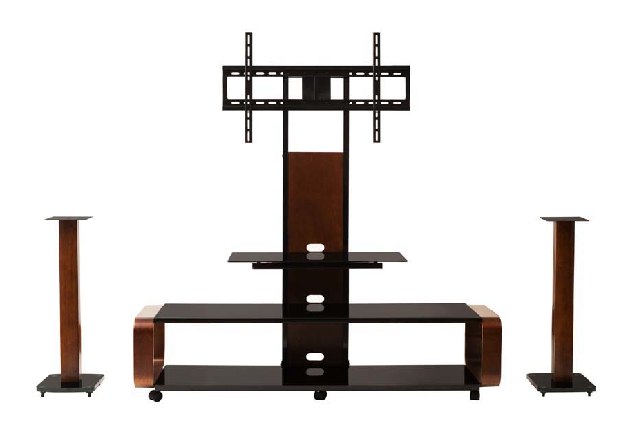 """Widely Used Tv Stands With Mount Intended For Transdeco Tv Stand W/mount And Caster For 40 80"""" Tv Entertainment (View 19 of 20)"""