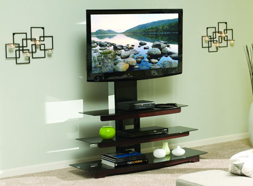 Widely Used Tv Stands With Mount Throughout Sanus Outs New Basic Tv Stands And No Drill Tv Mount – Slashgear (View 20 of 20)