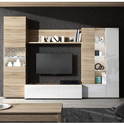 Widely Used Tv Units With Storage Throughout Tv Media Units With Storage: Amazon.co.uk (Gallery 7 of 20)