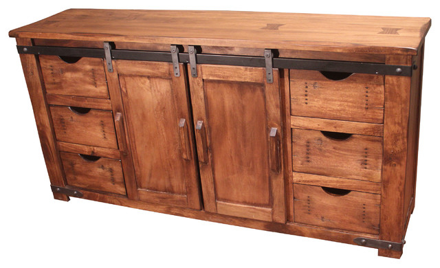 "Widely Used Wood Tv Entertainment Stands Regarding 60"" Solid Wood Tv Stand – Farmhouse – Entertainment Centers And Tv (View 13 of 20)"