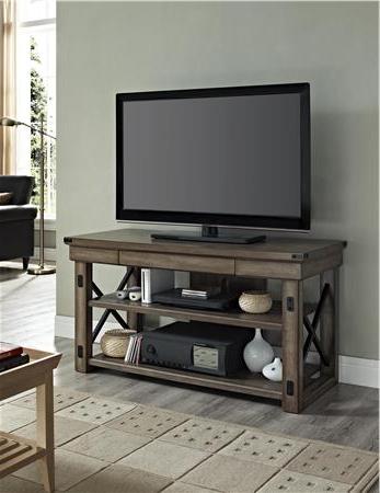 Wildwood Wood Veneer Tv Stand For Tvs Up To  (View 18 of 20)