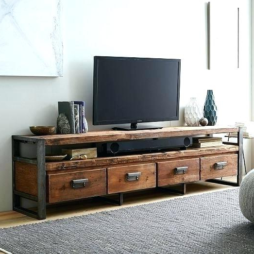 Wood And Metal Tv Stand Metal Stands Black Metal Stand Metal Stand With Regard To Newest Reclaimed Wood And Metal Tv Stands (View 8 of 20)