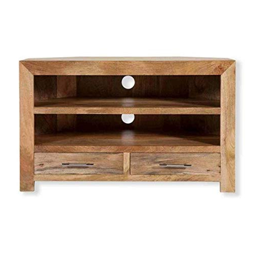Wood Corner Tv Units: Amazon.co.uk Throughout Most Up To Date Wooden Corner Tv Stands (Gallery 15 of 20)