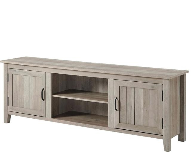 Wood Media Stand Storage Console Fashionable Tv Stands With Cabinet With 2017 Tv Stands With Storage Baskets (View 20 of 20)