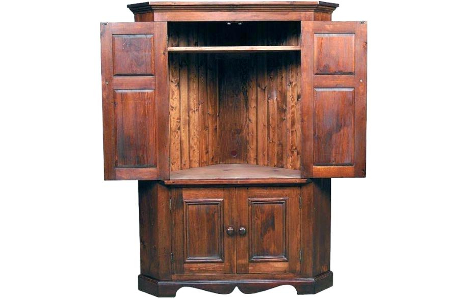 Wood Tv Armoire Stands Intended For Most Recently Released Armoires ~ Wood Tv Armoire Stand Wooden Corner Stands For Flat (View 20 of 20)