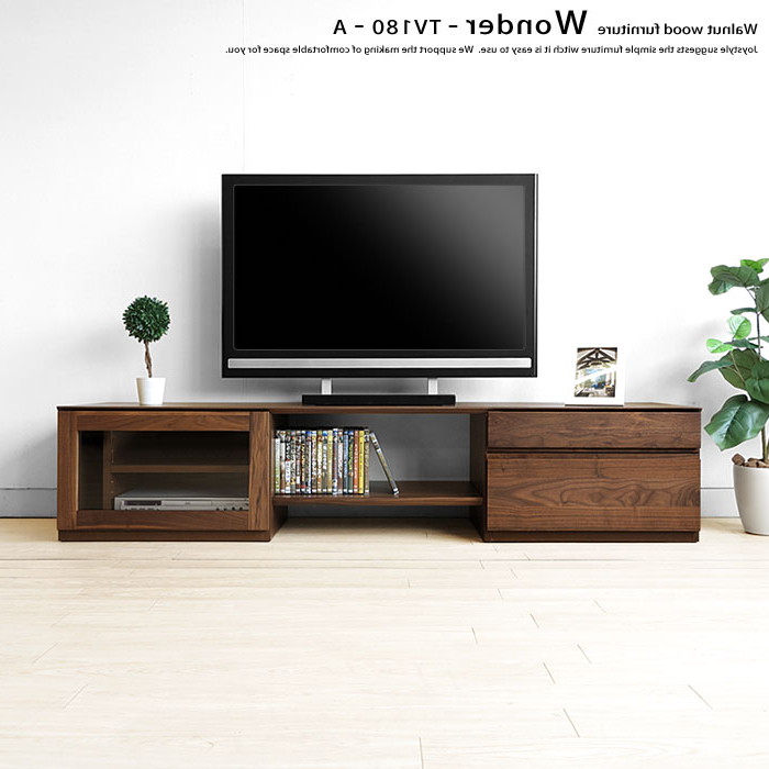 Wood Tv Stand With Glass In Most Current Joystyle Interior: Glass Door With Walnut Wood Walnut Solid Wood (View 16 of 20)