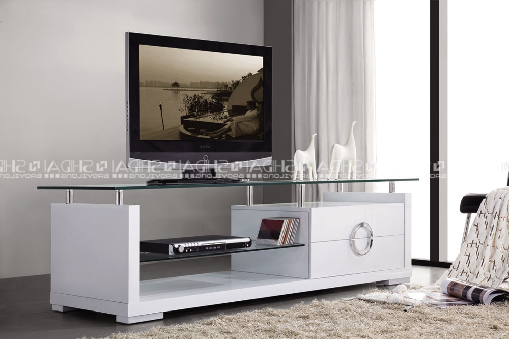 Wood Tv Stand With Glass Intended For Most Popular Living Room Furniture Wooden Tv Cabinet Modern Tv Stand Led Tv Stand (View 6 of 20)