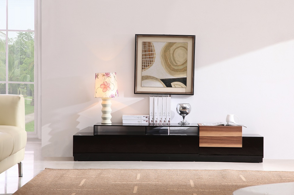 Wood Tv Stands With Glass Top In Popular Tv Stands (View 14 of 20)