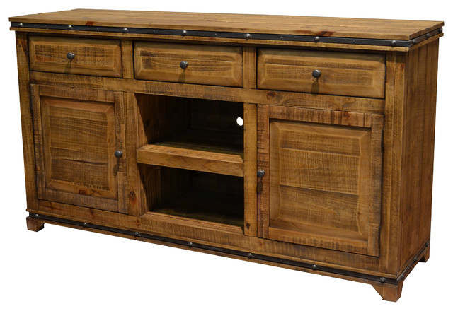 Wood Tv Stands With Regard To Preferred Addison Solid Wood Tv Stand Media Console – Rustic – Entertainment (Gallery 1 of 20)