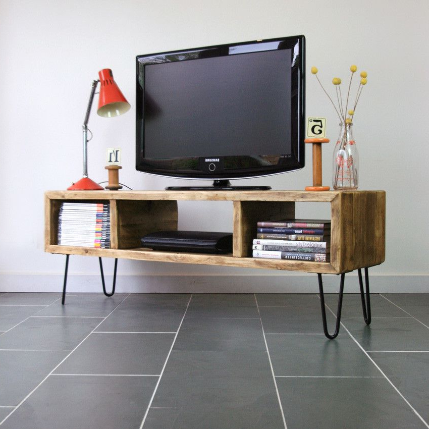 Wood Within Newest Hairpin Leg Tv Stands (View 10 of 20)