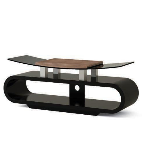 Wooden And Tempered Glass Tv Stand From China Manufacturer – Lumi With Regard To Most Recently Released Wood Tv Stand With Glass (View 9 of 20)