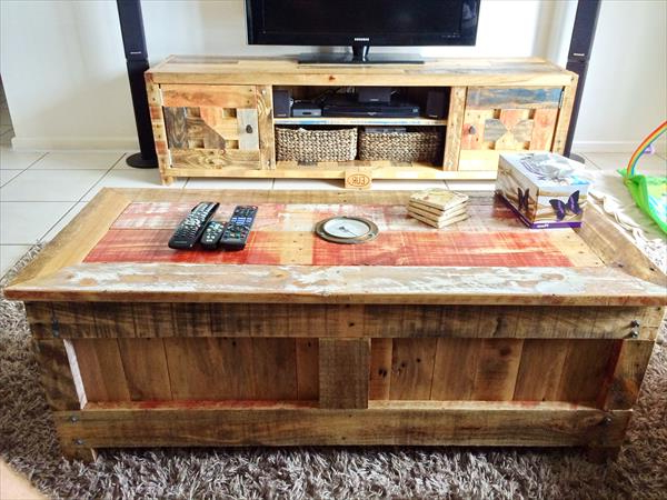 Wooden Pallet Furniture For Latest Matching Tv Unit And Coffee Tables (View 20 of 20)