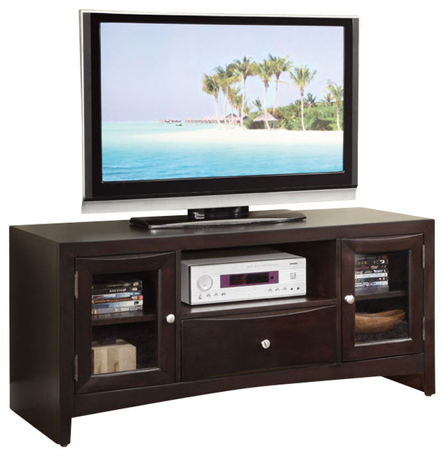 Wooden Tv Cabinets With Glass Doors For 2017 Modern Versatile Wood Entertainment Tv Stand Console Shelves Drawer (View 3 of 20)