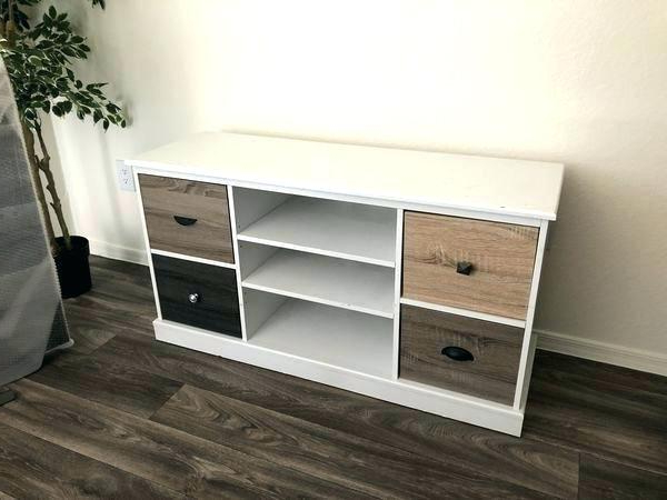 Wooden Tv Shelf White And Wood Stand Modern White Wood Stand White Intended For 2017 Wood Tv Floor Stands (View 20 of 20)