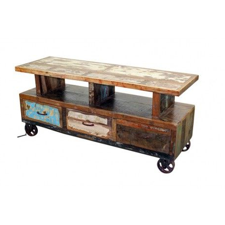 Wooden Tv Stand With Wheels (View 20 of 20)