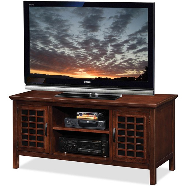 Wooden Tv Stands For 50 Inch Tv With Popular Shop Chocolate/black Glass 50 Inch Tv Stand & Media Console – Free (Gallery 4 of 20)