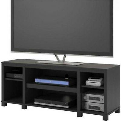 Wooden Tv Stands For 55 Inch Flat Screen Throughout Trendy 55 Inch Tv Stand Flat Screen Entertainment Media Console Home (View 2 of 20)