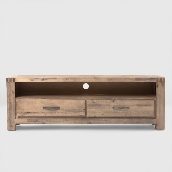 Wooden Tv Stands With Doors Pertaining To Trendy Vancouver Acacia Wood Tv Stand ( (View 20 of 20)