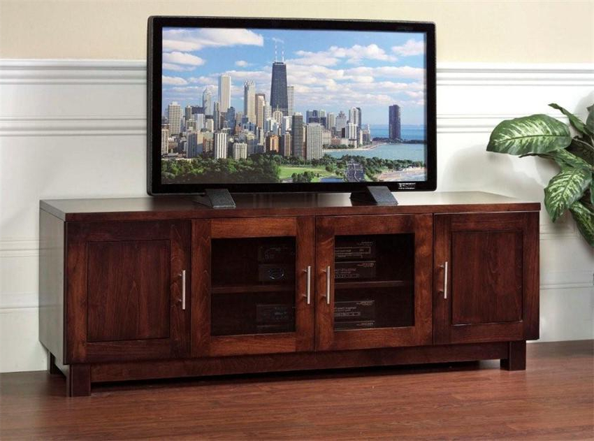 Wooden Tv Stands With Glass Doors For Fashionable Tv Stands With Glass Doors Extraordinary Amazon Com Winsome Wood Tv (View 3 of 20)