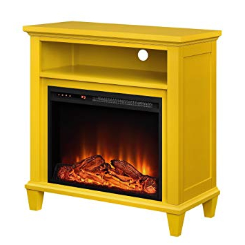 Yellow Tv Stands Inside Preferred Amazon: Ameriwood Home 5032496Com Ellington Tv Stand, Yellow (View 18 of 20)