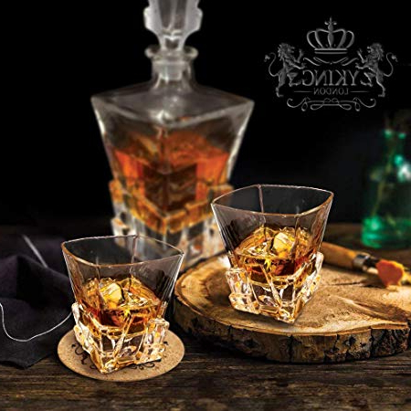 Yking Whiskey Glasses Set Of 2 Glasses And 2 Coasters (View 20 of 20)