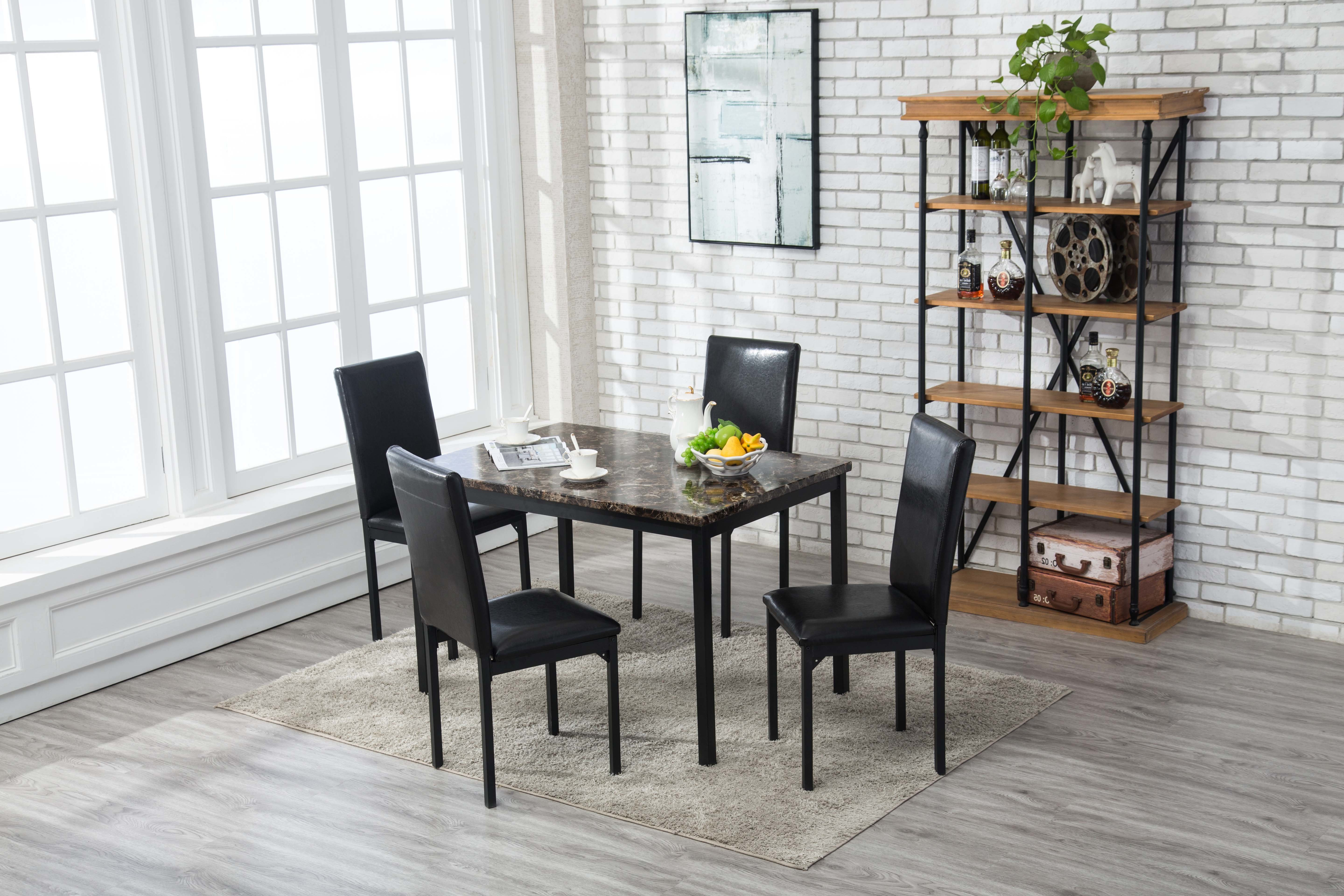 2017 Andreana 5 Piece Dining Set Regarding Autberry 5 Piece Dining Sets (Gallery 11 of 20)