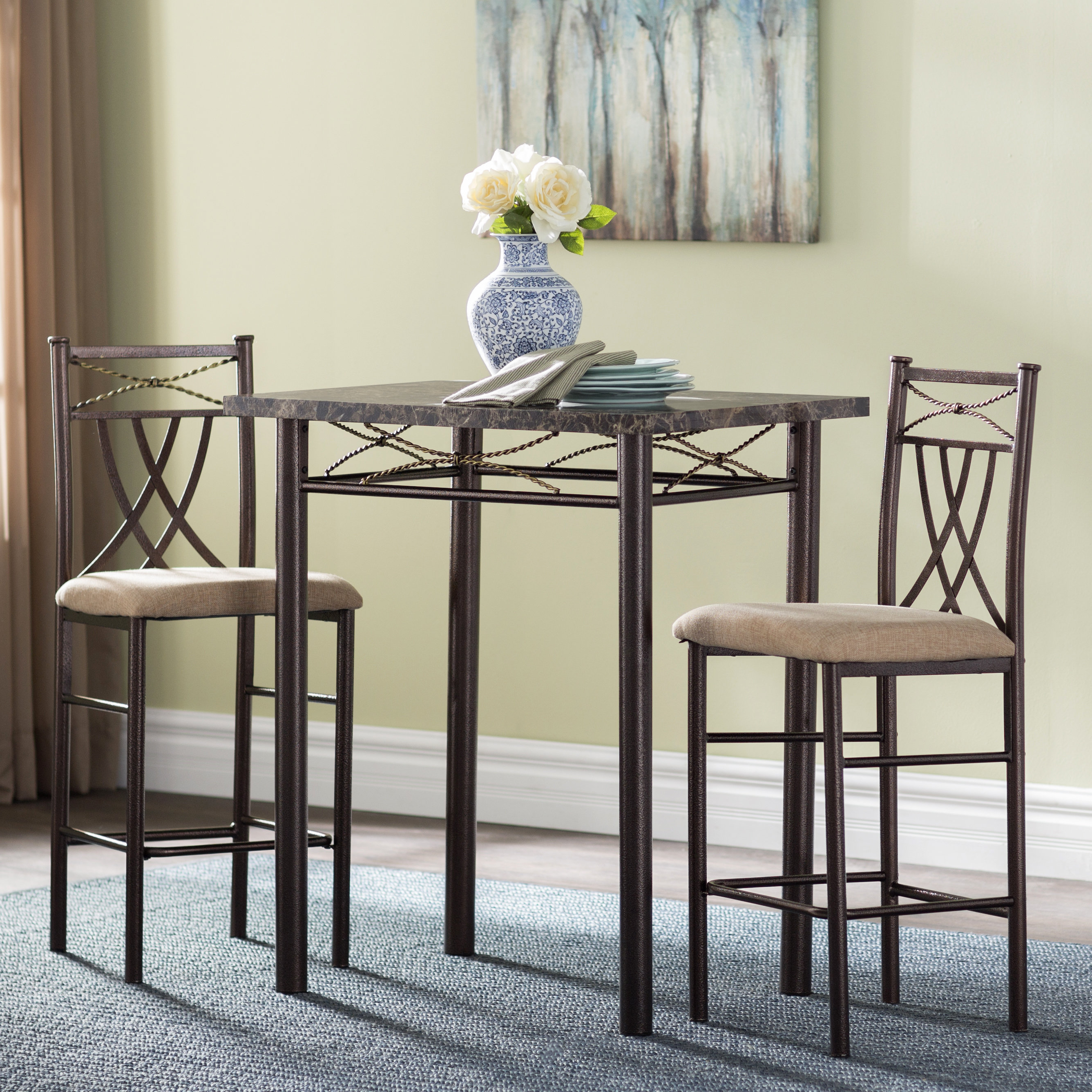 2017 Cincinnati 3 Piece Dining Set Throughout Cincinnati 3 Piece Dining Sets (Gallery 1 of 20)