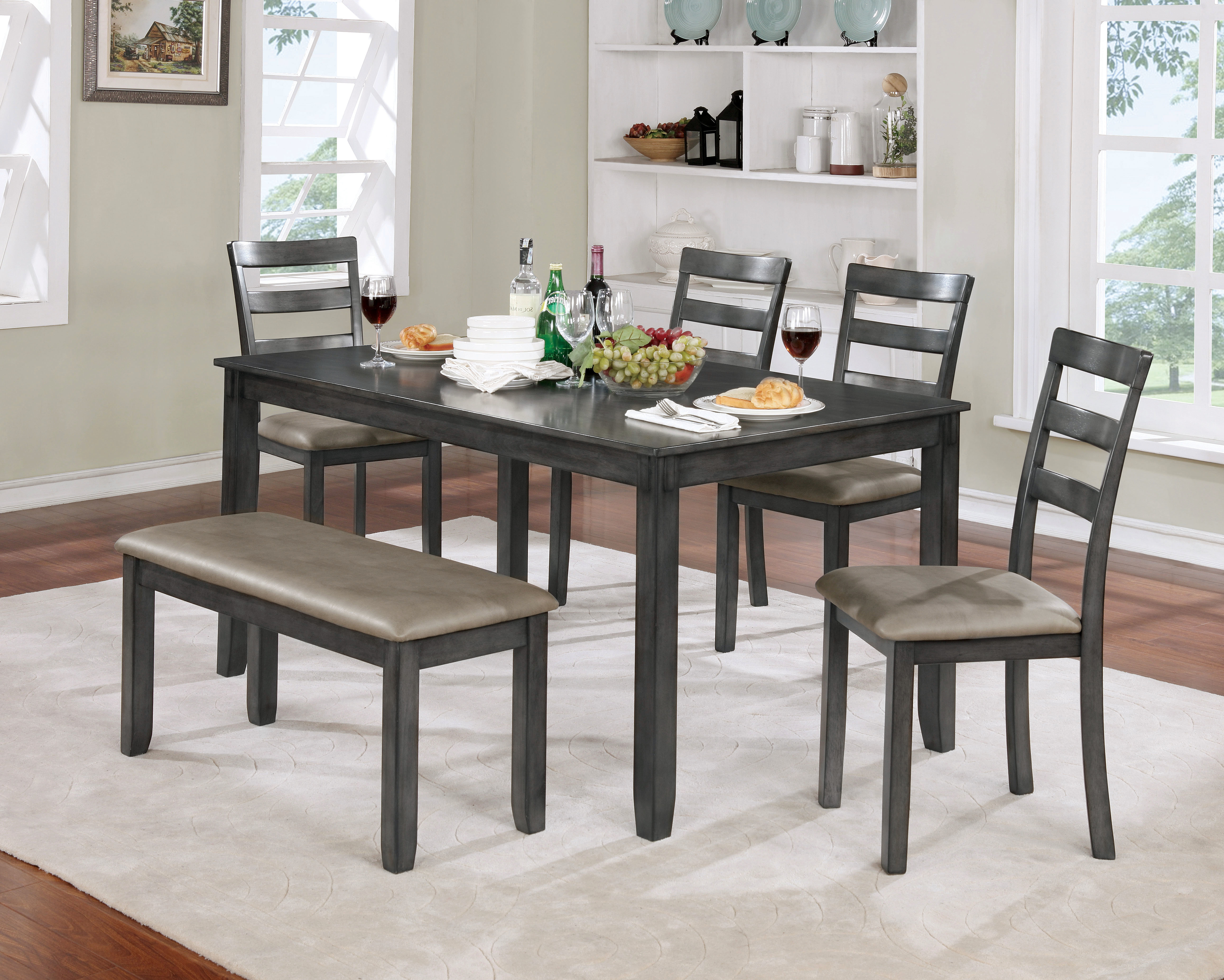 2017 Dawkins Dining Set With Regard To Hanska Wooden 5 Piece Counter Height Dining Table Sets (set Of 5) (Gallery 17 of 20)