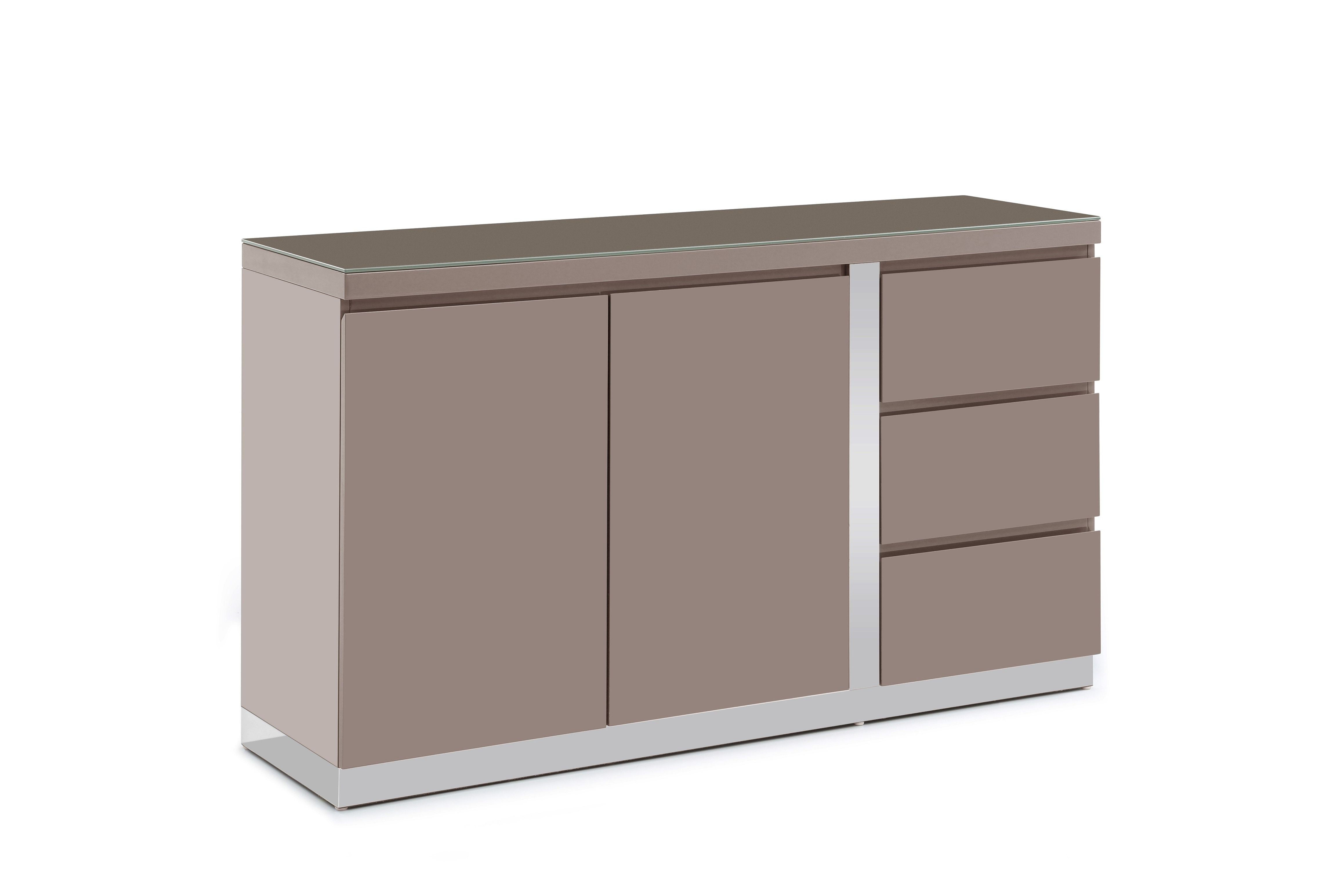 2017 Jarrod 5 Piece Dining Sets With Regard To Jarrod Taupe High Gloss Sideboard 140Cm (View 1 of 20)