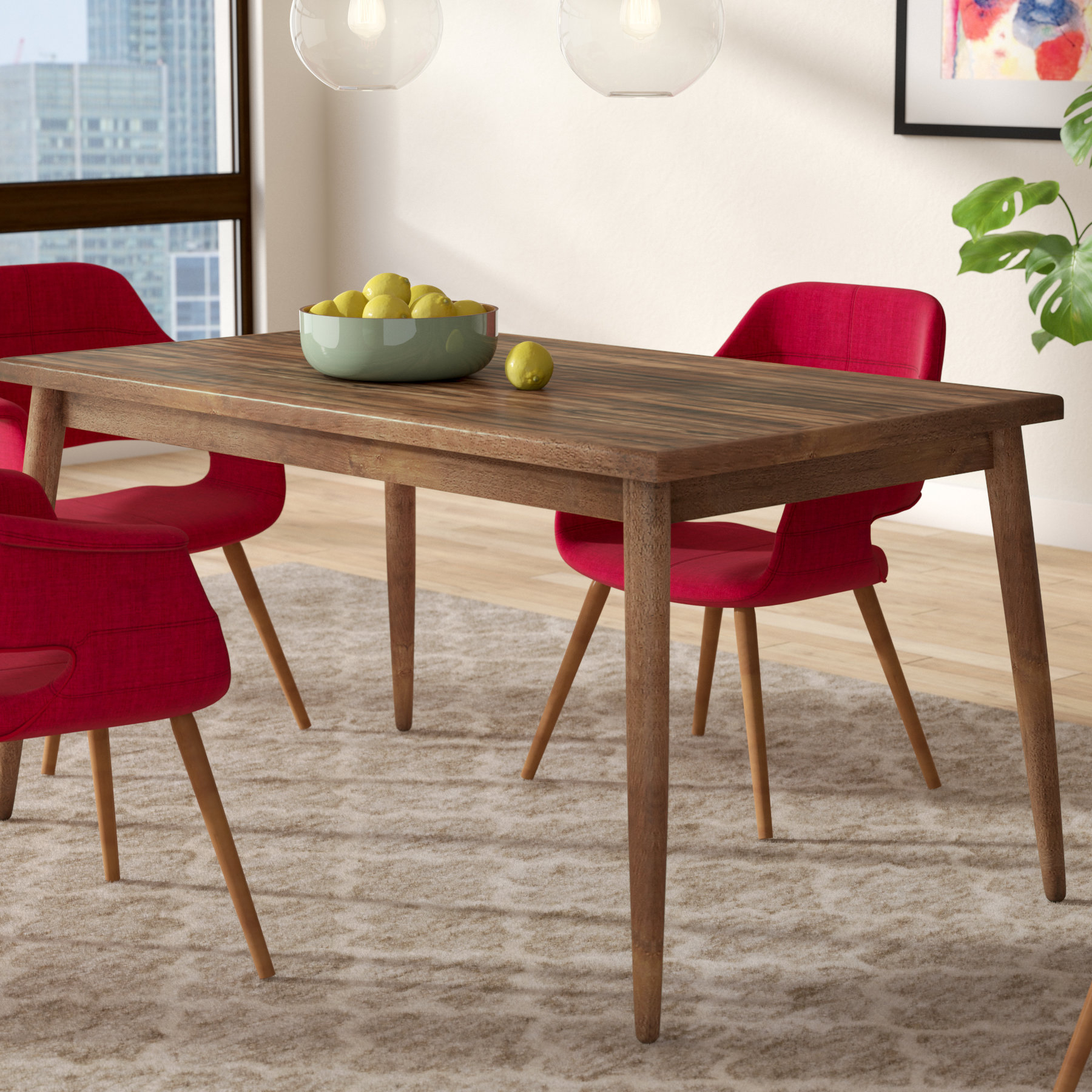 2017 Lydia Dining Table Intended For Amir 5 Piece Solid Wood Dining Sets (Set Of 5) (Gallery 20 of 20)