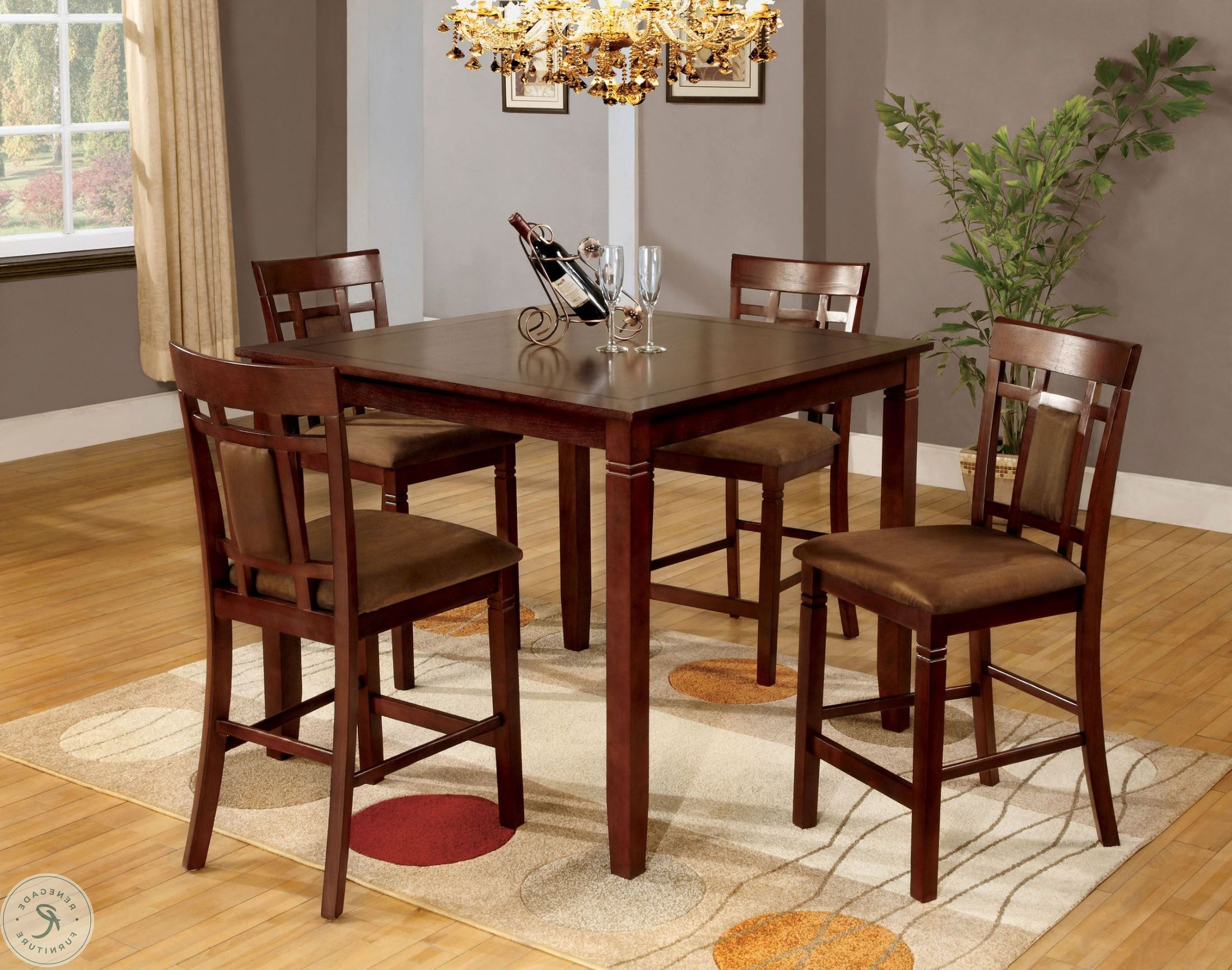 2017 Montclair Ii 5 Piece Counter Height Dining Table Set Throughout Anette 3 Piece Counter Height Dining Sets (Gallery 20 of 20)