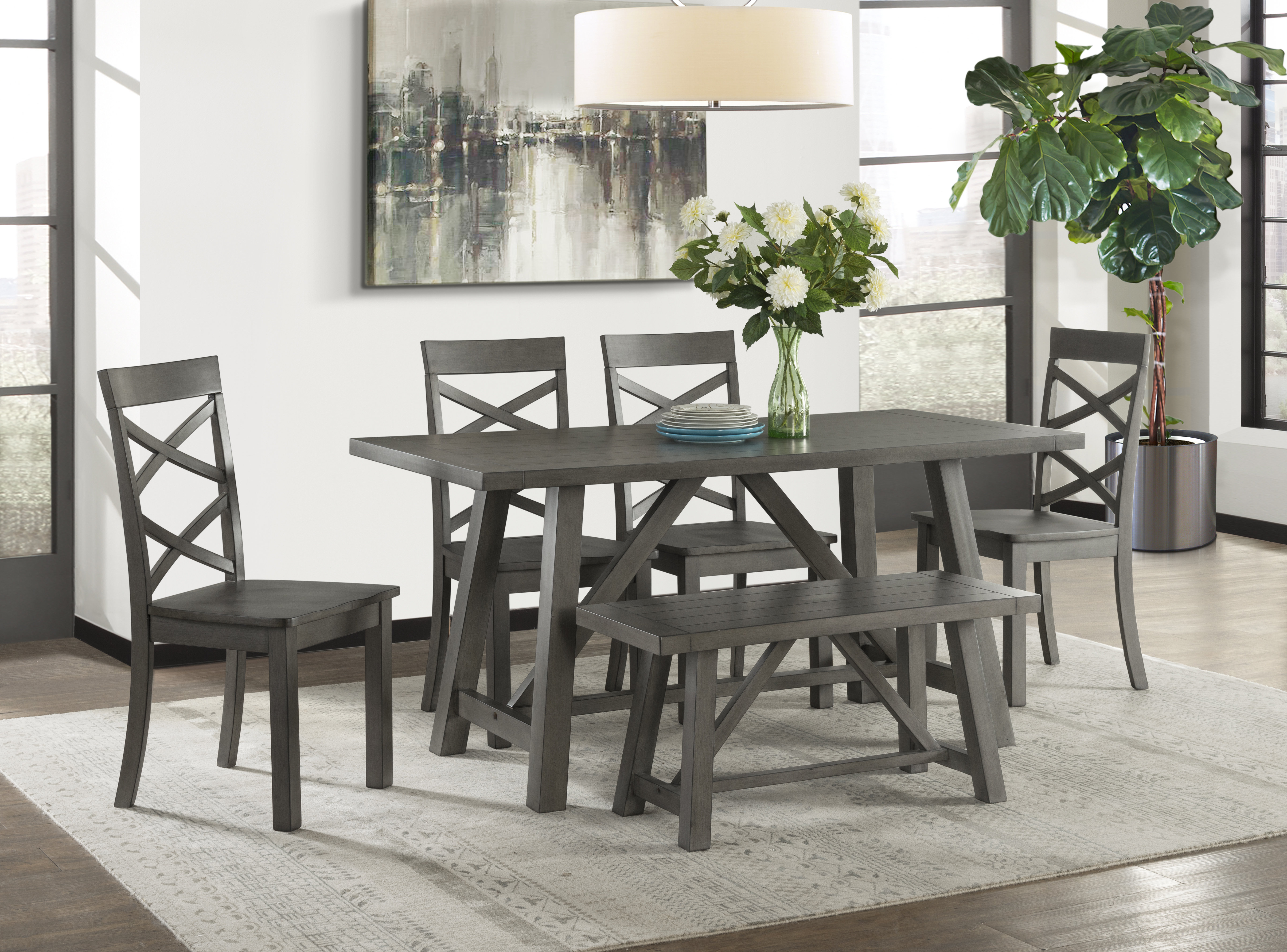 2017 Osterman 6 Piece Extendable Dining Sets (set Of 6) Regarding Osterman 6 Piece Extendable Dining Set (Gallery 1 of 20)