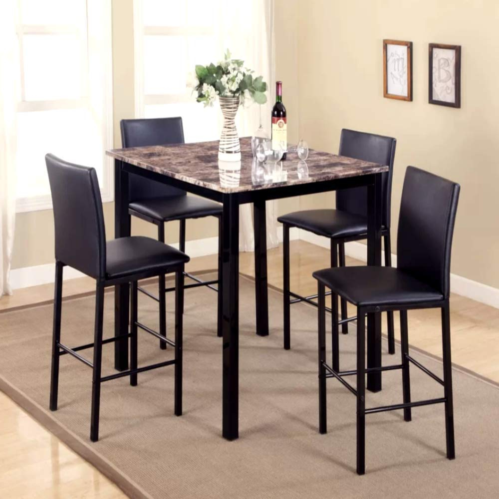 2018 5 Piece Breakfast Nook Dining Sets Regarding Amazon – 5 Piece Counter Height Breakfast Nook Dining Set (View 2 of 20)