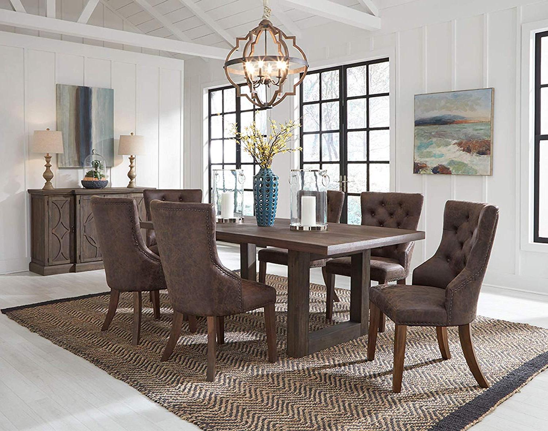 2018 Amazon – Furnituremaxx Trevon Dusty Brown Oak Finsh Dining Set Within Travon 5 Piece Dining Sets (Gallery 15 of 20)