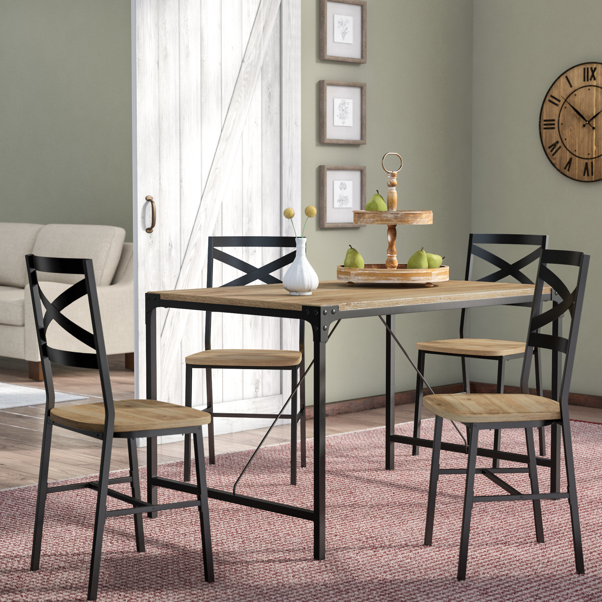 2018 Calla 5 Piece Dining Sets Inside Samantha 5 Piece Dining Set (Gallery 4 of 20)