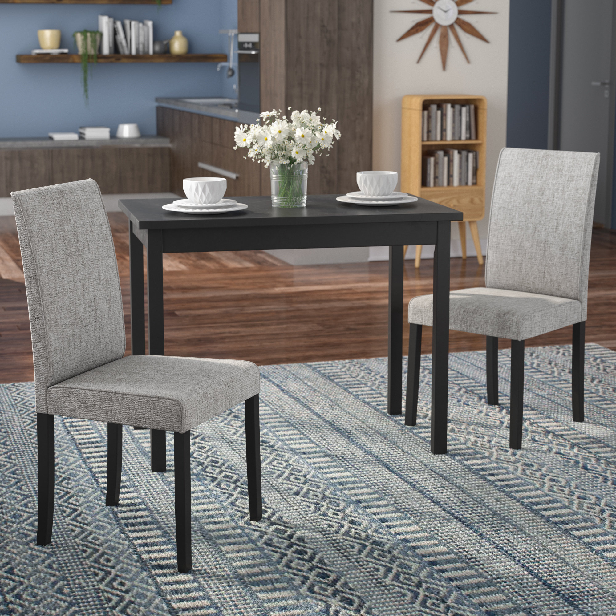 2018 Darvell 3 Piece Dining Set Inside Baillie 3 Piece Dining Sets (Gallery 2 of 20)