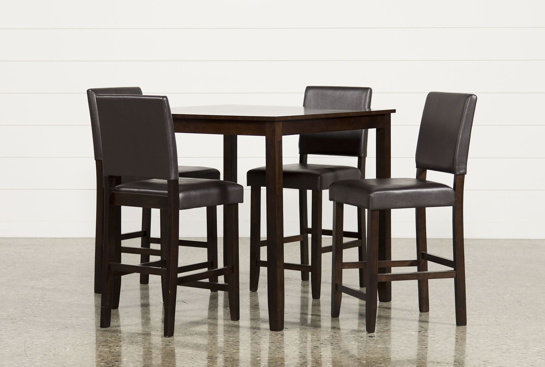 2018 Jarrod 5 Piece Counter Set, Cappucino, Kitchen & Dining Furniture For Jarrod 5 Piece Dining Sets (View 3 of 20)