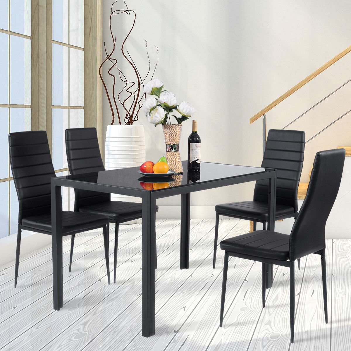 2018 Linette 5 Piece Dining Table Sets Regarding Edgeworth 5 Piece Dining Set (View 3 of 20)
